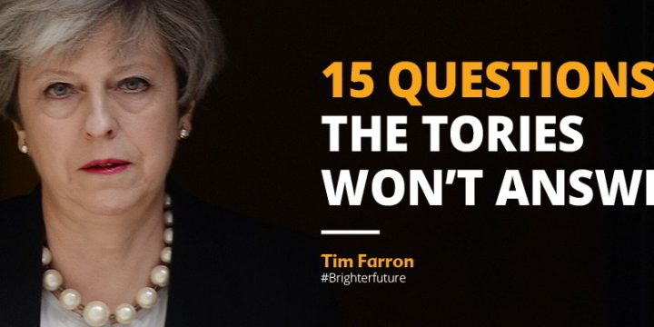 15 Questions the Tories won't answer – Farron