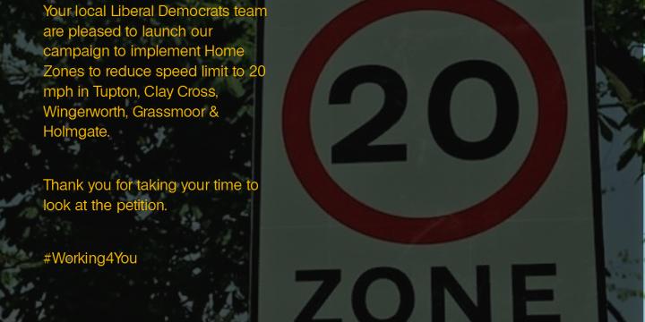Liberal Democrats launch 20 mph Speed Zone campaign